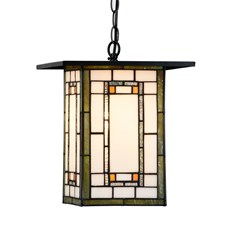 Tiffany Pendant Light Frank Lloyd Wright Orange