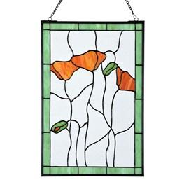 Poppy Tiffany Panel