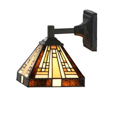 Tiffany Wall Lamp Rising Sun