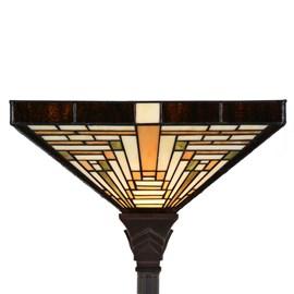 Tiffany Floor Lamp Rising Sun Uplighter