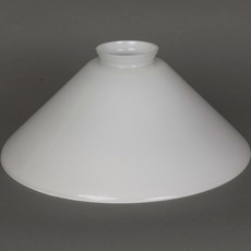 Glass Lampshade Cono 400 Opal White Fit 6