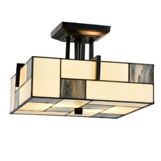 Tiffany Ceiling Lamp Mondriaan