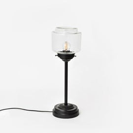 Slim Table Lamp Stepped Cylinder Small Clear Moonlight