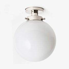 Ceiling Lamp Globe Ø 30 20's Nickel