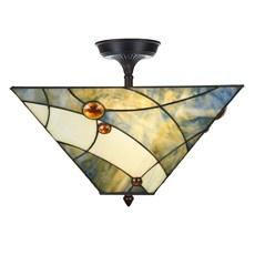 Tiffany  Elongated  Ceiling Lamp Sky Blue