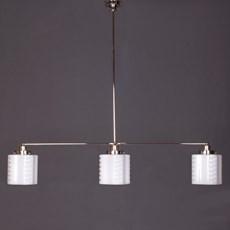 Hanging Lamp 3-Light with Glass Lampshade de Klerk