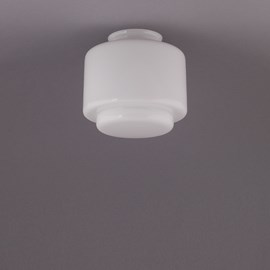 Glass Lampshade Small Stepped Cylinder