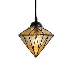 Tiffany Pendant Lamp Aiko Yellow