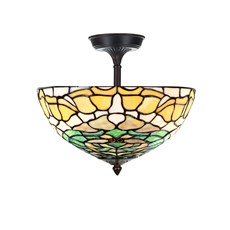 Tiffany Extended Ceiling Lamp Campanula
