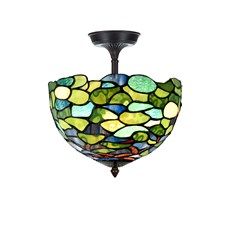 Tiffany Extended Ceiling Lamp Hydrangea