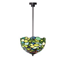 Tiffany Angular Pendant Lamp Hydrangea