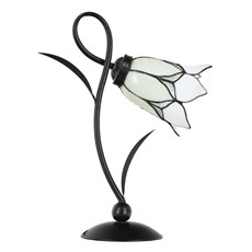 Tiffany Table Lamp Lovely Flower White Romantic