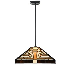 Tiffany Angular Pendant Light Rising Sun square