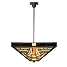 Tiffany Angular Pendant Light Rising Sun