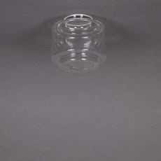 Glass Lampshade Stepped Cylinder small Transparant