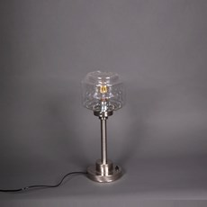 Table Lamp Stepped Cylinder Small Transparant