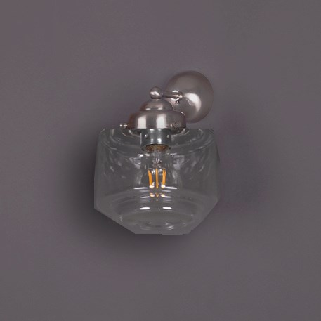Wall lamp Stepped Cylinder Small Transparant