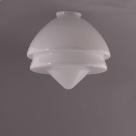 Glass Lampshade Art Deco Pointy Large