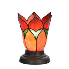 Low Tiffany Table Lamp Lovely Flower Red