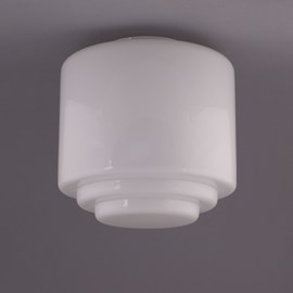 Glass Lampshade Stepped Cylinder Large