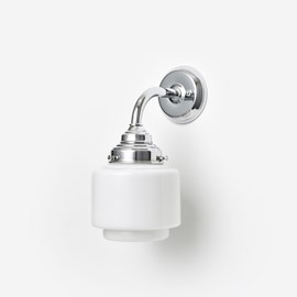 Wall lamp Stepped Cylinder Small Curve Chrome
