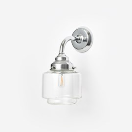 Wall Lamp Stepped Cylinder Small Clear Curve Chrome