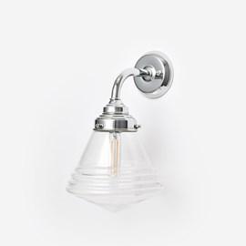 Wall Lamp Luxurious School Small Clear Curve Chrome